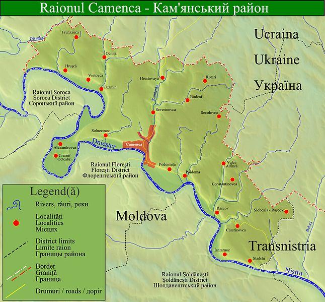 ShtetLinks Page Kamenka Moldova - Transnistria map