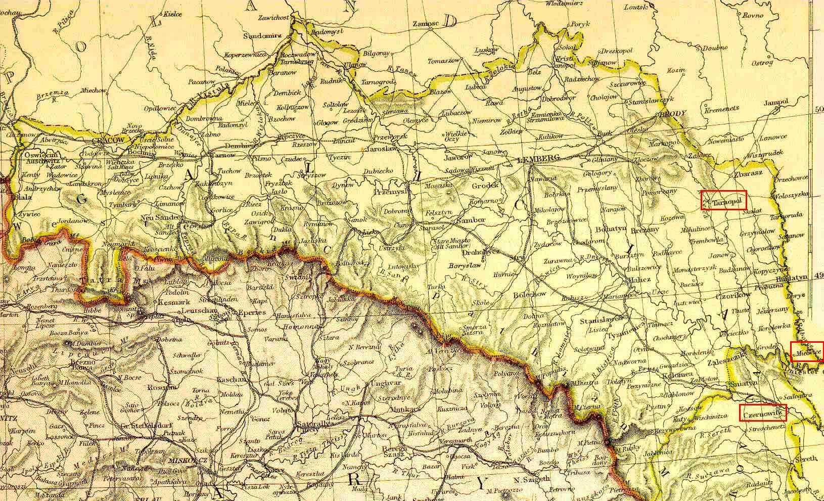 map of galicia austria 1900 The Tailor Shop Threads Of Our Past Viewing Galicia On A Map Of map of galicia austria 1900