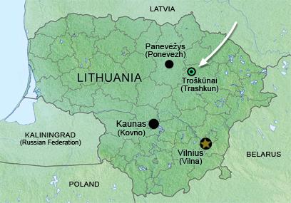 Troknai Trashkun a small shtetl in Lithuania