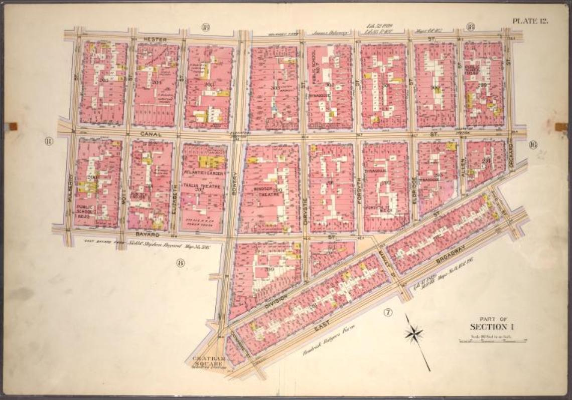 Lower East Side New York Map.Settlers From Lyakhovichi Us Settlement Of Lechovichers In The