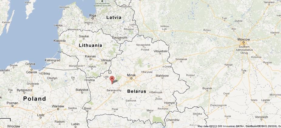 Image result for novogrudok poland map