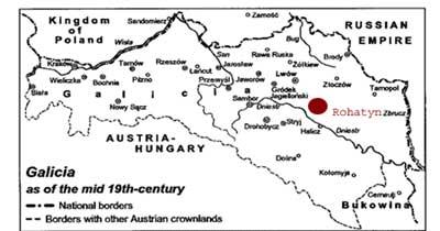 map of galicia austria 1900 Rohatyn A Shtetl In Galicia Jewish Genealogy map of galicia austria 1900