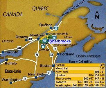 Carte Canada Boston.Sherbrooke Jewish History